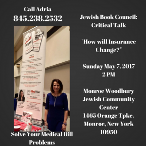 Join Adria at her next critical talk about Medical Bills and Health Care Coverage
